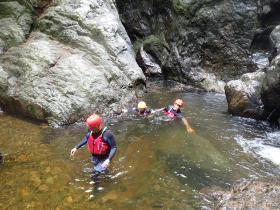 Gorge Scrambling with Anglesey Adventures