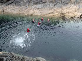 Coasteering for Schools in Anglesey